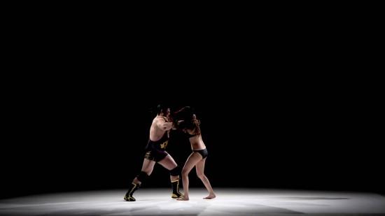 จับผู้ชายมาปล้ำผู้หญิง (มวยปล้ำ) โฆษณาถุงยาง สวยยวดเลยลูกเพ่