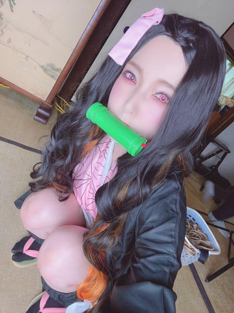 AVข่าวใหม่-เนซึโกะจากดาบพิฆาตอสูรฉบับราชินี COSPLAY Yui Hatano